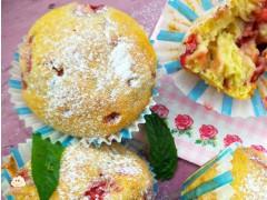 Strawberry-mint muffins